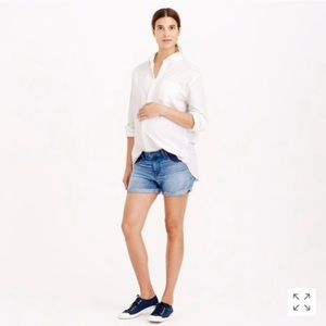 J. Crew maternity jean shorts 27 indigo blue